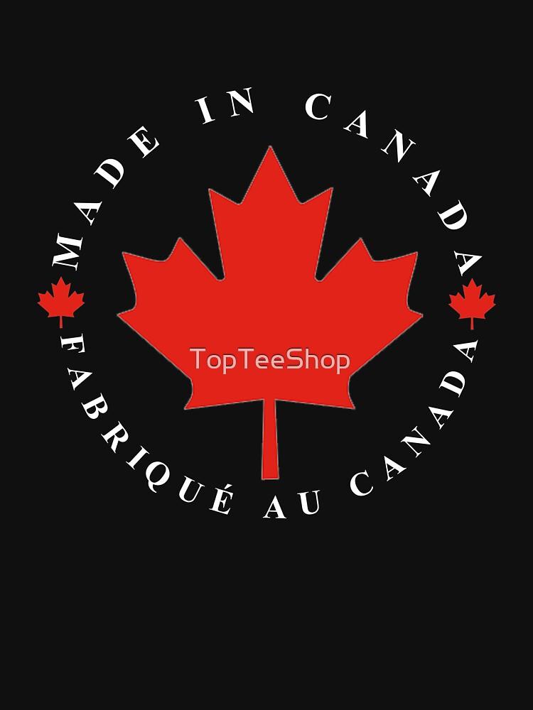 Canadaian T Shirt Maple Leaf Made In Canada Symbol Flag Classic T