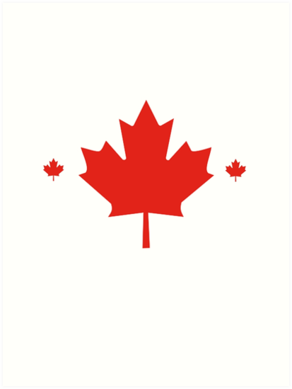 Canadaian T Shirt Maple Leaf Made In Canada Symbol Flag Art Prints