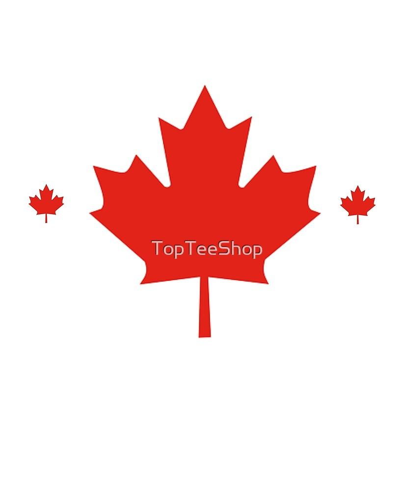 Canadaian T Shirt Maple Leaf Made In Canada Symbol Flag By