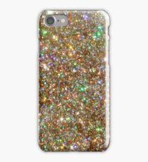 Golden Glitter Frenzy iPhone Case/Skin