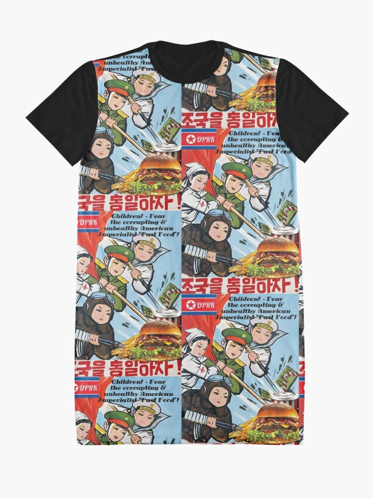 Alternative Ansicht von Korea Parodie Propaganda Mk4 - Kinder & Fast Food T-Shirt Kleid