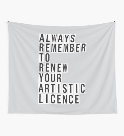 LICENCE RENEWAL Wall Tapestry