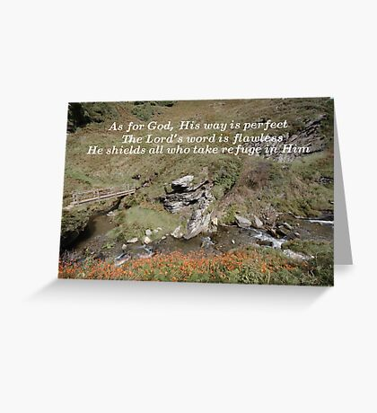 His way is perfect Greeting Card