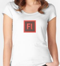 Adobe Flash Professional Women's Fitted Scoop T-Shirt