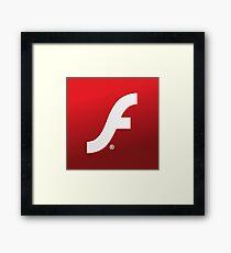 Adobe Flash logo Framed Print
