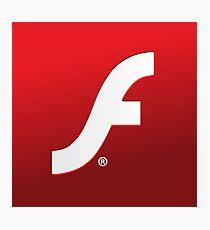 Adobe Flash logo Photographic Print