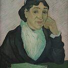 Original Vincent Willem van Gogh Impressionist Art Painting Restored L Arlesienne by jnniepce