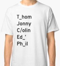 Thom, Jonny, Colin, Ed, and Phil - Radiohead Classic T-Shirt