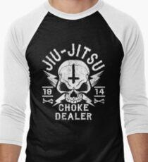 JIU JITSU - CHOKE DEALER Men's Baseball ¾ T-Shirt