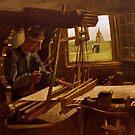Original Vincent Willem van Gogh Impressionist Art Painting Restored The Weaver by jnniepce