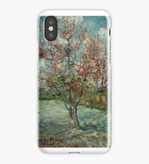Original Vincent Willem van Gogh Impressionist Art Painting Restored Pink Peach Trees Souvenir de Mauve iPhone Case/Skin