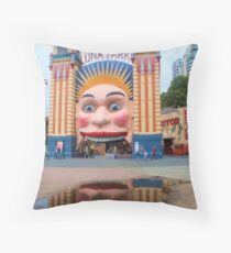 Luna Park .. twice the fun Throw Pillow
