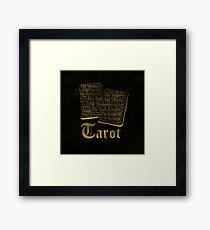 Tarot Major Arcana Word Art  Framed Print