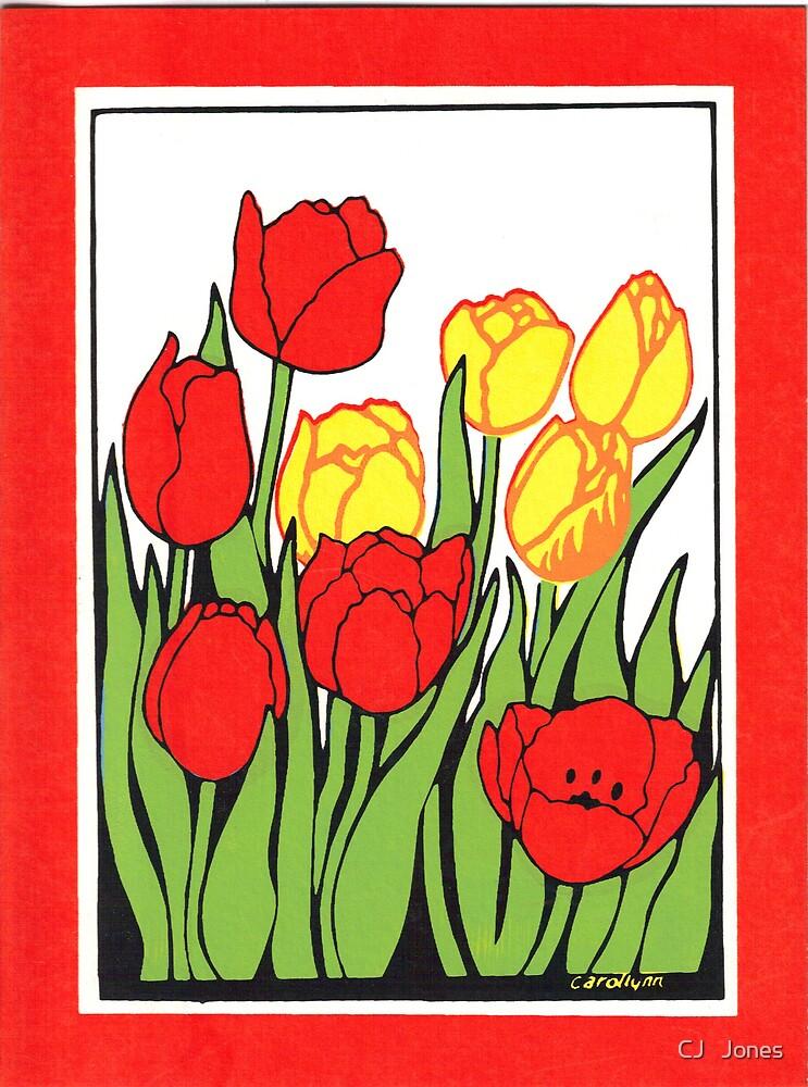 tulips by CJ   Jones