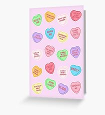 Trump candy hearts (pink) Greeting Card