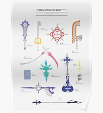 Organisation XIII weapons inventory Poster