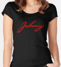 Johnny Rocker Tribute Women's Fitted Scoop T-Shirt