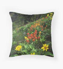 Hells Canyon Wild Flower Throw Pillow