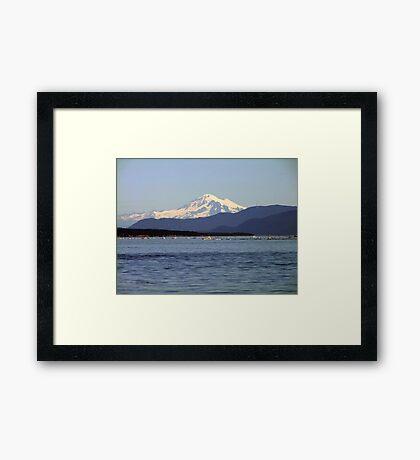 Mountain,Sea and Sky Framed Print