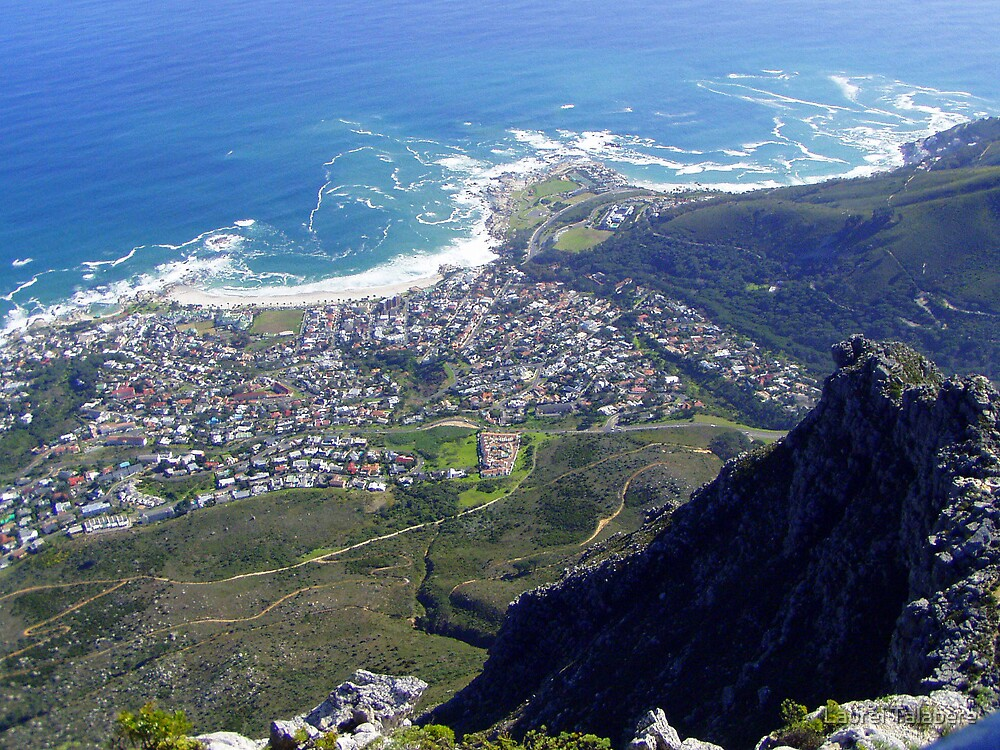 Aerial View of Capetown from Table Mountain by Laurel Talabere