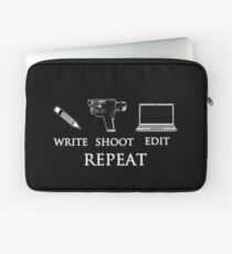 Write shoot edit repeat Laptop Sleeve