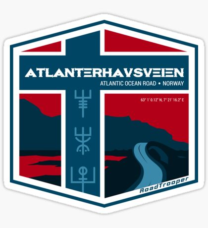 Atlanterhavsveien 2 - Atlantic Ocean Road Norway T-Shirt Sticker Design Sticker