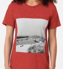 Winter Day at Falkirk Wheel Tri-blend T-Shirt
