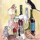 Red red wine and Rats by drusillak