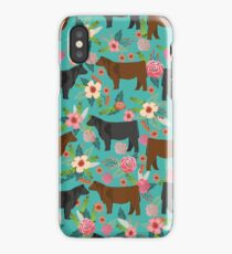 Angus cattle farm friendly gifts perfect for homesteader homestead lover iPhone Case/Skin