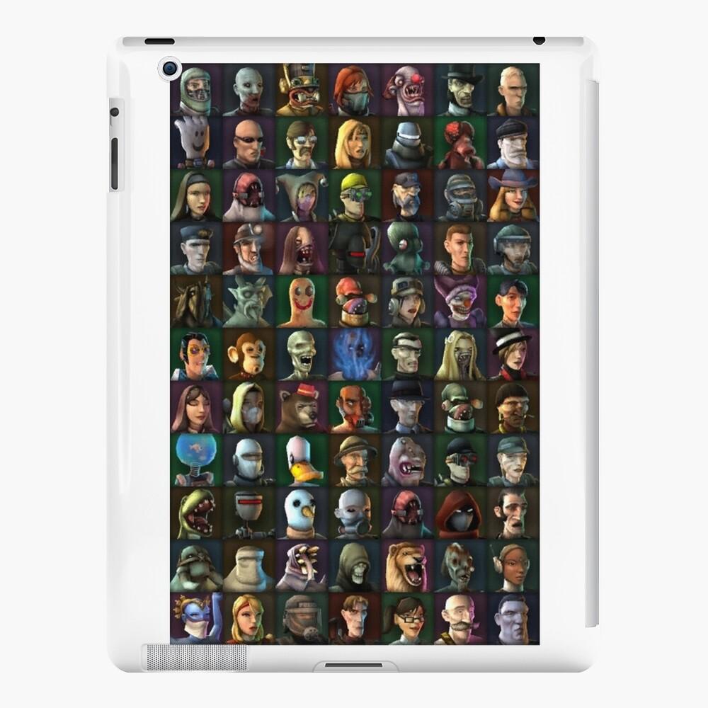 Personajes de TimeSplitters 2 Funda y vinilo para iPad