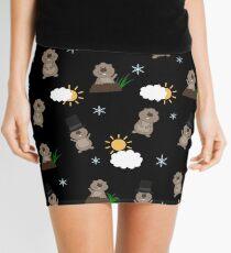 Groundhog Day Pattern Mini Skirt