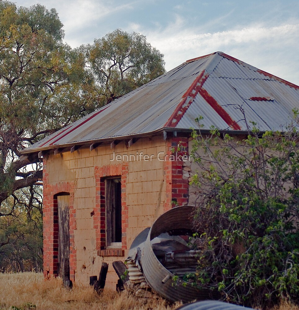 Deserted out house at Dimboola V01 by Jennifer Craker