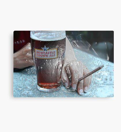 Plastic Brown Ale Beer Metal Print