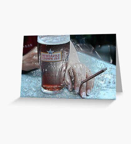 Plastic Brown Ale Beer Greeting Card