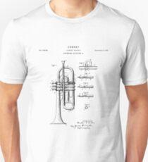 Cornet Patent Drawing Blueprint Unisex T-Shirt