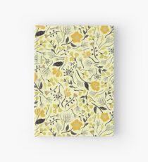 Gelbes, grünes u. Schwarzes Blumen- / botanisches Muster Notizbuch