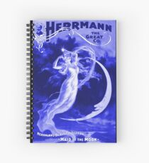 Vintage Magician Poster Spiral Notebook