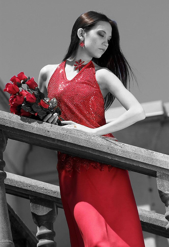 Woman In Red by AussieSteve1961