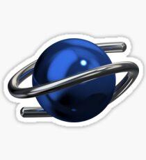 Sega Saturn 3D Chrome Sticker