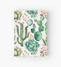 Aquarell Kaktus-Muster Notizbuch