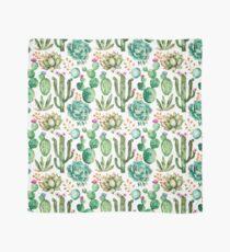 Watercolor Cactus Pattern Scarf