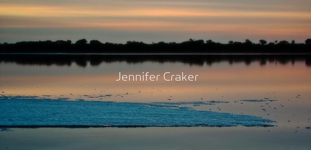 Salt Flats at Pink Lake - Dimboola by Jennifer Craker