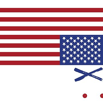 Woe Is U.S. Distress Upside Down Flag by nomadshirts