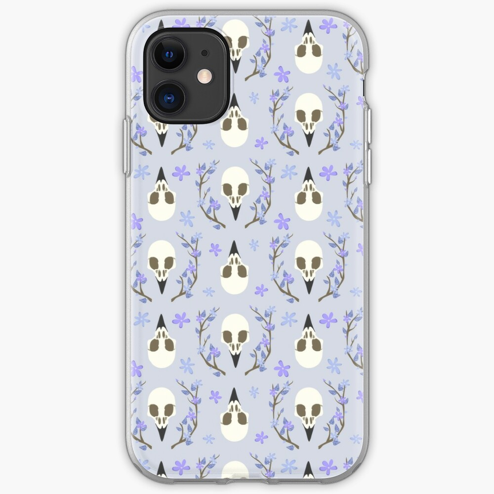 Bird Skull iPhone Soft Case