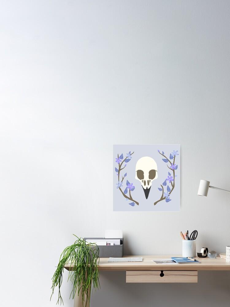 Alternate view of Bird Skull Poster