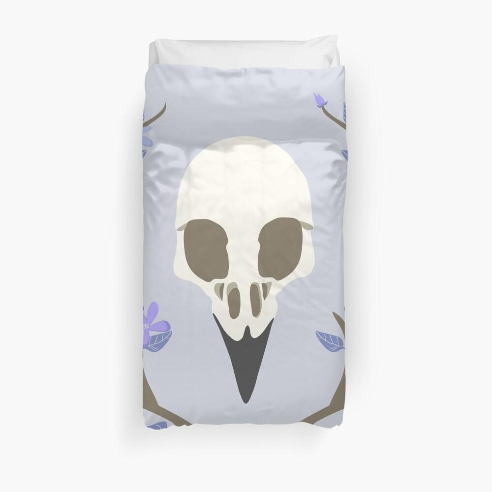 Bird Skull Duvet Cover