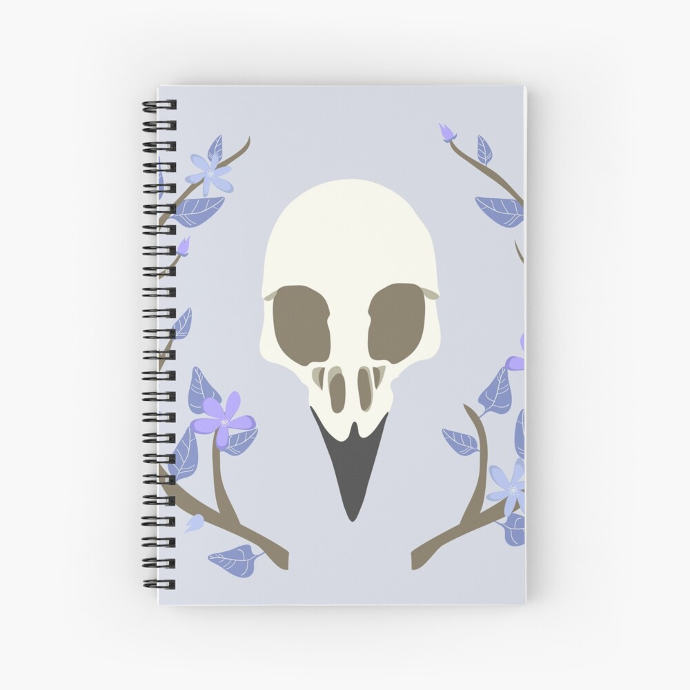 Bird Skull Spiral Notebook