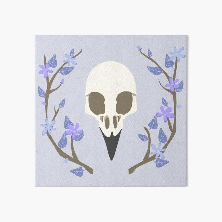 Bird Skull Art Board Print
