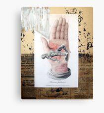 UN MUNDO CANSADO SOBRE SUS MANOS (a tired world in his hands) Canvas Print