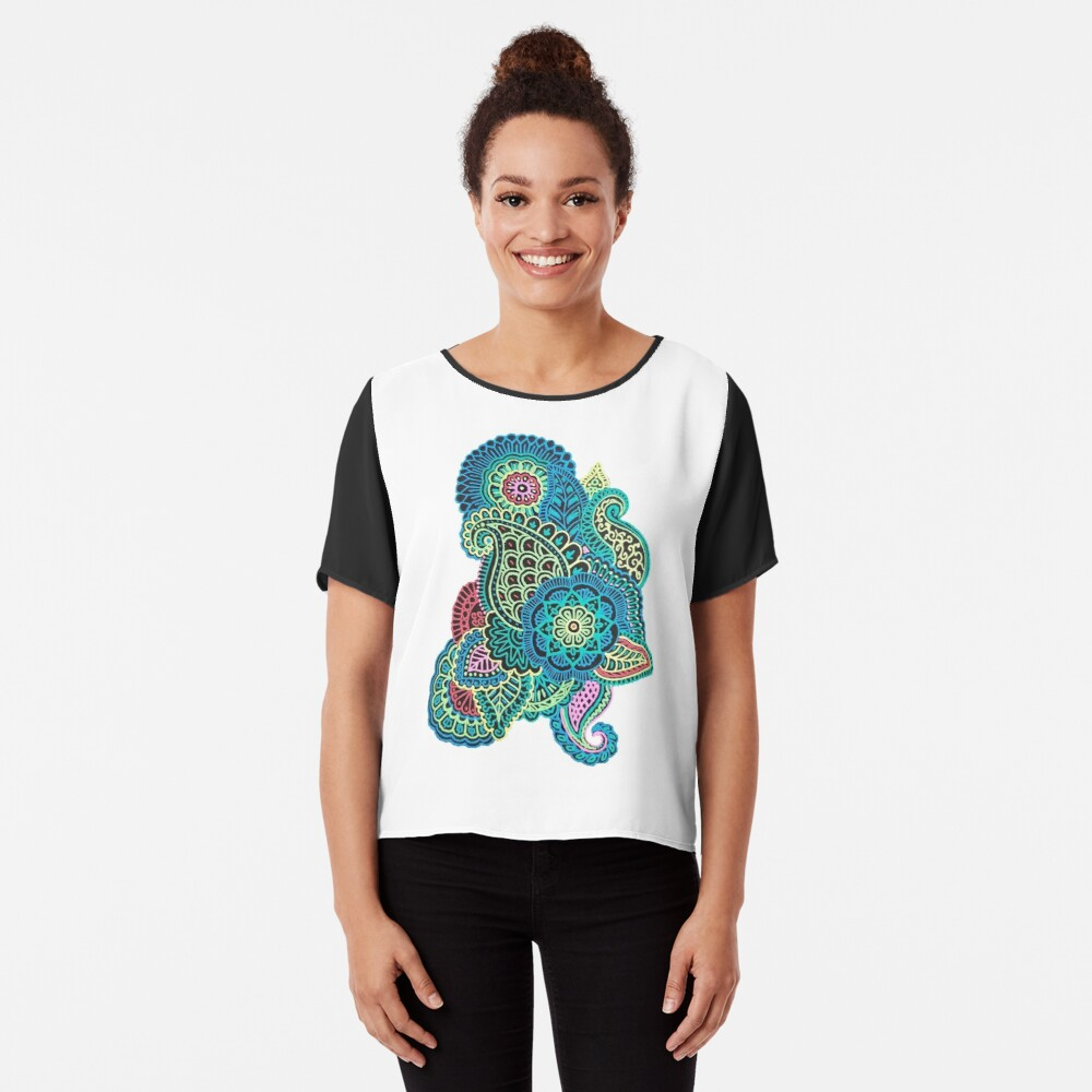 Bunter Zendoodle Chiffon Top